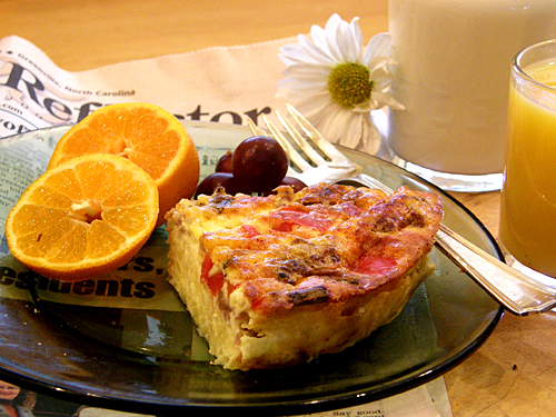 Gluten Free Sweet Italian Sausage Breakfast Quiche with Hashbrown Potato Crust - Inn Cuisine